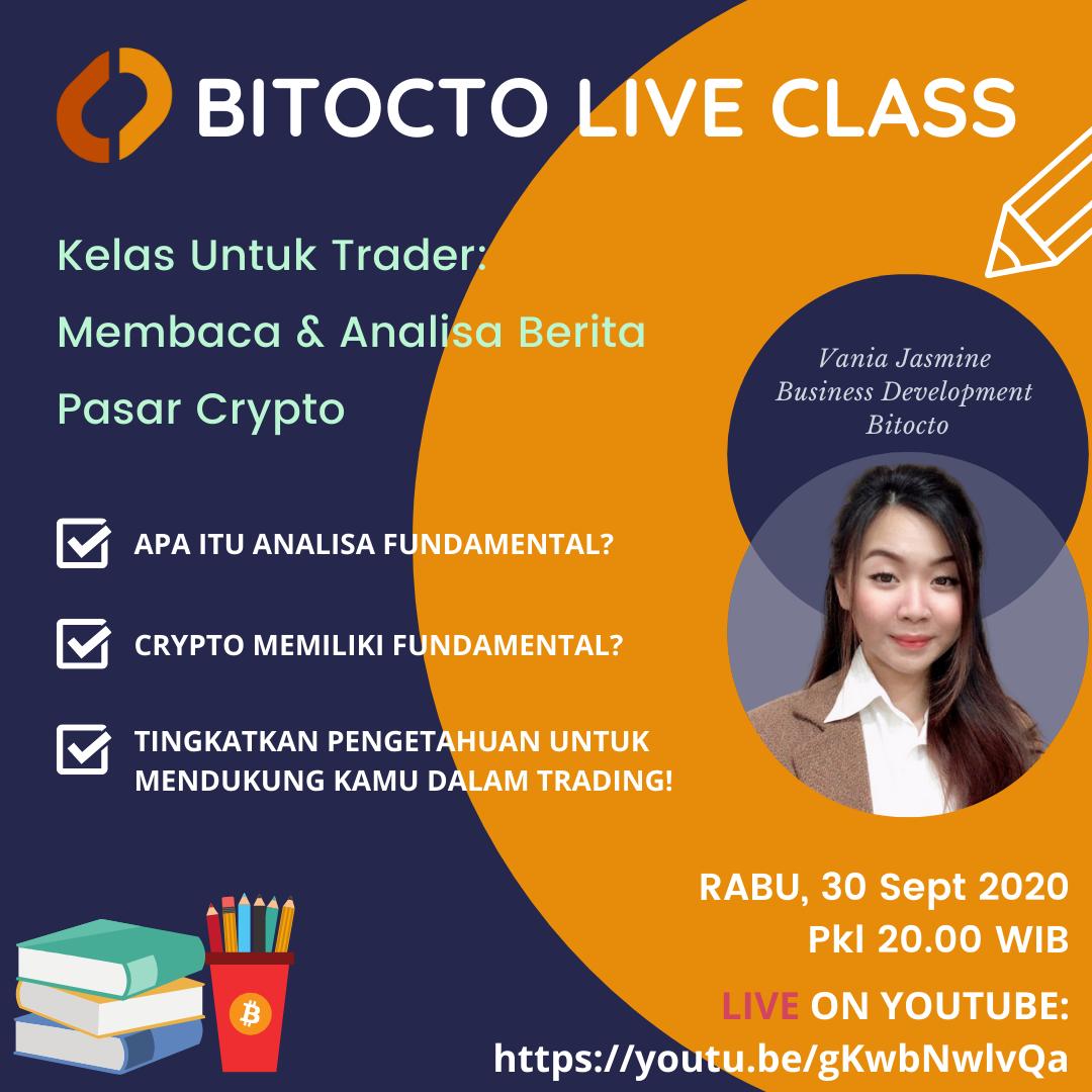 Live Class: Kelas Untuk Trader, Membaca & Analisa Berita Pasar Crypto