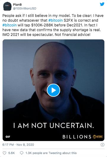 Screenshot Twitter 13 November 2020