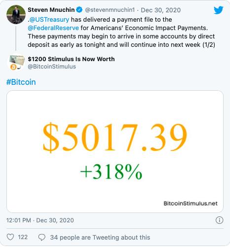 Tweet stimulus market update 30 Desember 2020